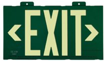 Jessup™ Glo Brite® Eco Exit™ S50 Steel Framed Exit Signs