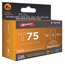 Arrow Fastener T75 Type Staples