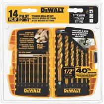 DeWalt® 14-Pc. Titanium Drill Bit Sets