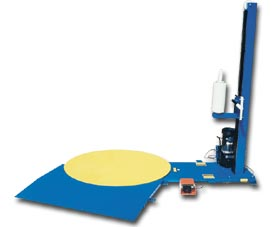 SEMI-AUTOMATIC STRETCH WRAP MACHINE