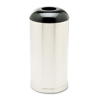 Rubbermaid® Commercial European & Metallic Series Receptacle with Drop-In Dome Top