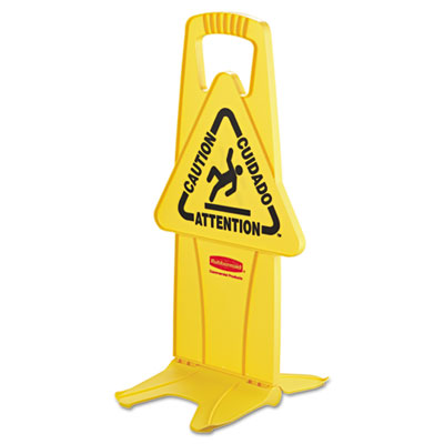 Rubbermaid® Commercial Stable Multi-Lingual Safety Sign