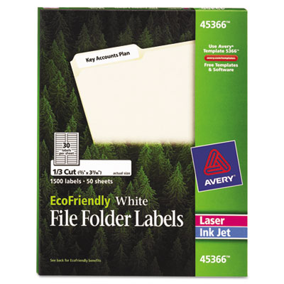 Avery® EcoFriendly File Folder Labels