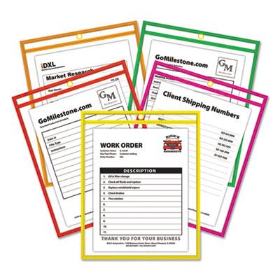 C-Line® Neon Stitched Shop Ticket Holders