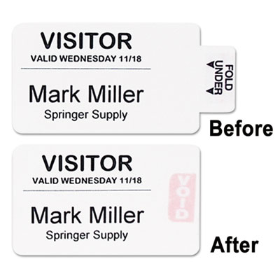 C-Line® Time's Up!® One-Part Self-Expiring Security Badges