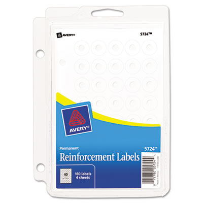 Avery® Binder Hole Reinforcements with Binder Clip