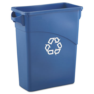 Rubbermaid® Commercial Slim Jim® Recycling Container with Handles
