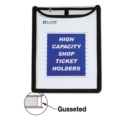 C-Line® High Capacity Stitched Top Shop Ticket Holders