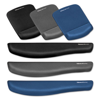 Fellowes® PlushTouch™ Wrist Rest with FoamFusion™ Technology