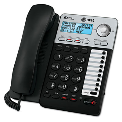 AT&T® ML17929 Two-Line Corded Speakerphone