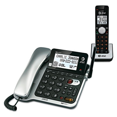 AT&T® CL84102 DECT 6.0 Corded and Cordless Telephone Answering System