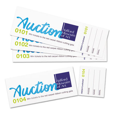 Avery® Printable Tickets with Tear-Away Stubs