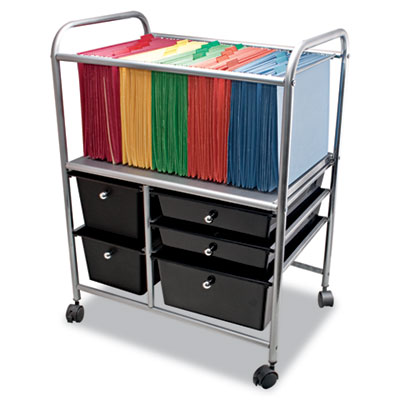 Advantus® Letter/Legal File Cart with Five Storage Drawers