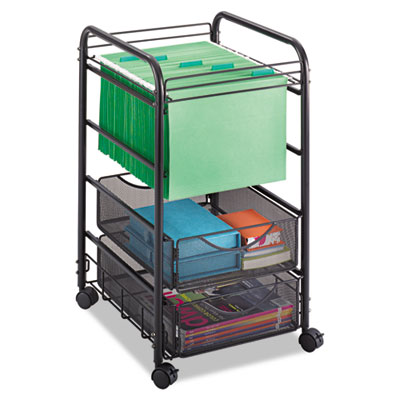 Safco® Onyx™ Mesh Open Mobile File with Drawers