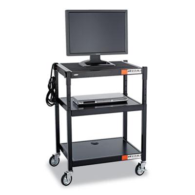 Safco® Adjustable-Height Steel AV Cart