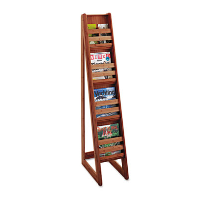 Safco® Bamboo Magazine/Pamphlet Floor Display