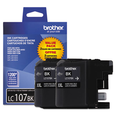 Brother® LC103BK-LC107BK Ink