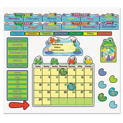 Carson-Dellosa Publishing FUNky Frog Calendar Bulletin Board Set
