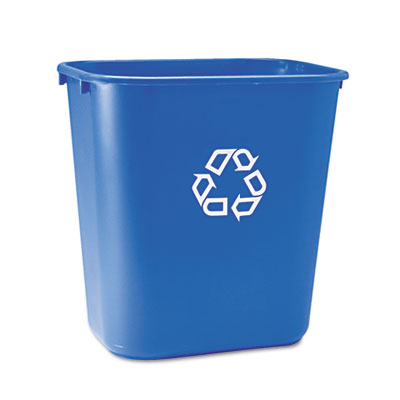 Rubbermaid® Commercial Deskside Plastic Container for Paper Recycling