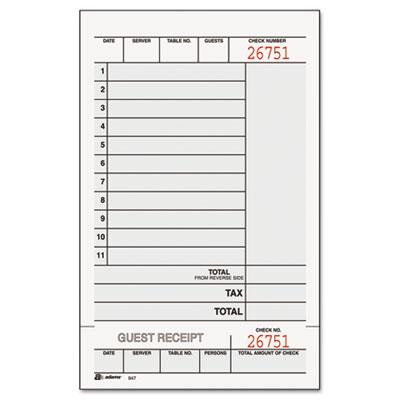 Adams® Guest Check Unit Set