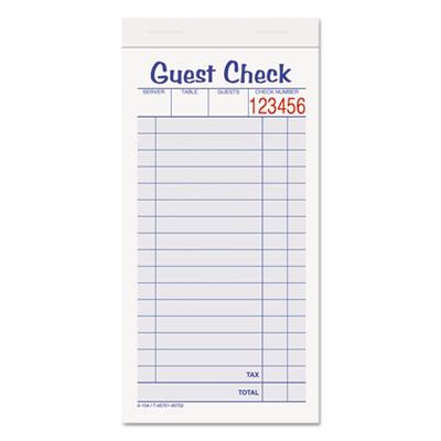 Adams® Guest Check Pad
