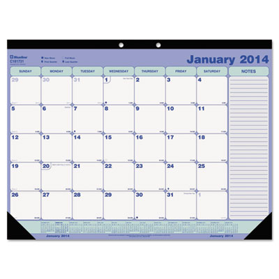 Blueline® Monthly Academic Desk Pad Calendar