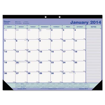 Blueline® Monthly Academic Desk Pad Calendar