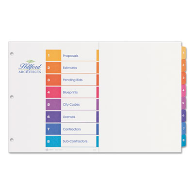 "Avery® Ready Index® Customizable Table of Contents 11"" x 17"" Multicolor Dividers"