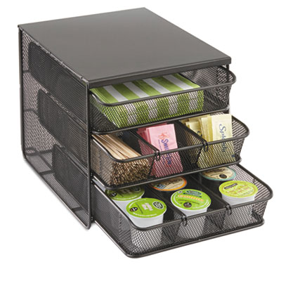 Safco® Onyx™ Three Drawer Hospitality Organizer