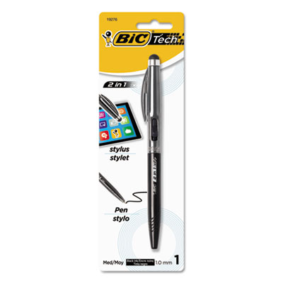 BIC® Tech Stylus 2 in 1 Retractable Ball Pen and Stylus