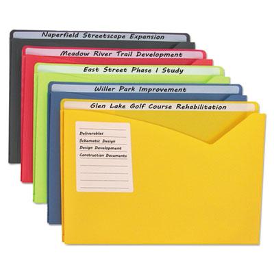 C-Line® Write-On Poly File Jackets