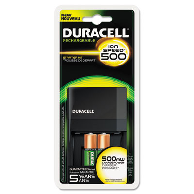 Duracell® ION SPEED™ 500 Starter Kit Charger