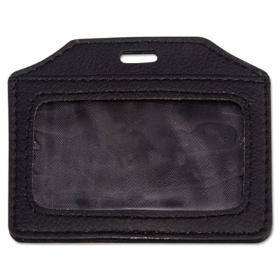 Advantus® Leather-Look Badge Holder