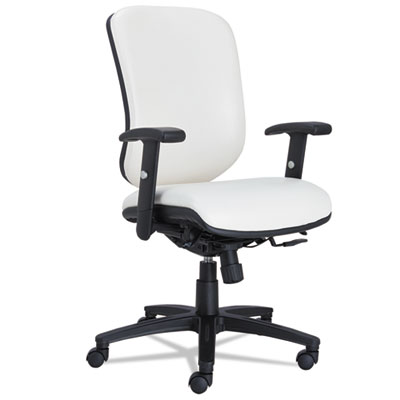 Alera® Eon Series Multifunction Mid-Back Stain Resistant Upholstery Chair