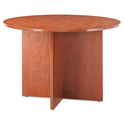 Alera® Valencia Series Round Conference Tables with Straight Leg Base