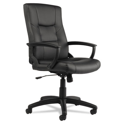 Alera® YR Series Executive High-Back Swivel/Tilt Leather Chair