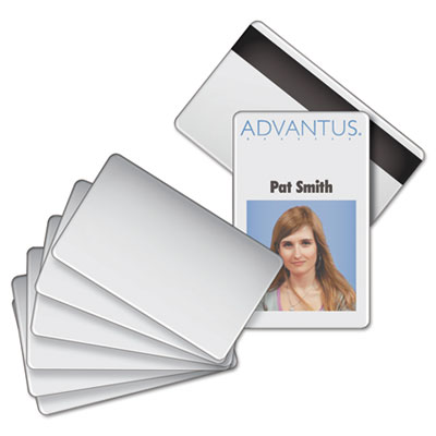 Advantus® Blank PVC ID Badge Card with Magnetic Strip