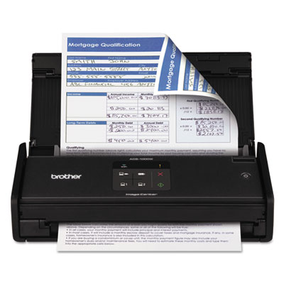 Brother® ADS1000W Wireless Compact Color Desktop Scanner