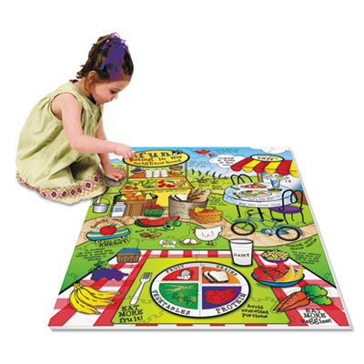Chenille Kraft® WonderFoam® Land Of Nutrition Floor Puzzle
