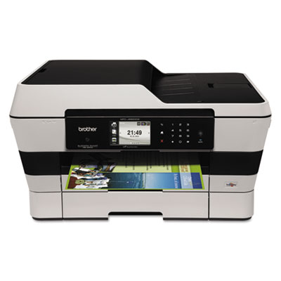Brother® MFC-J6920DW Business Smart™ Pro Inkjet All-in-One Printer with Expanded Paper Capacity and Duplex Print, Copy and Scan