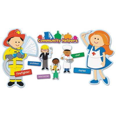 Carson-Dellosa Publishing Community Helpers Bulletin Board Set