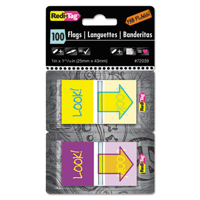 Redi-Tag® Fab Flags Pop-Up in Dispenser