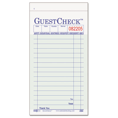 National Checking Company™ Guest Check Pad