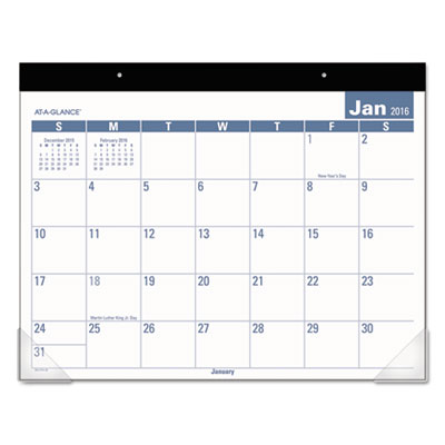 AT-A-GLANCE® Easy-to-Read Monthly Desk Pad