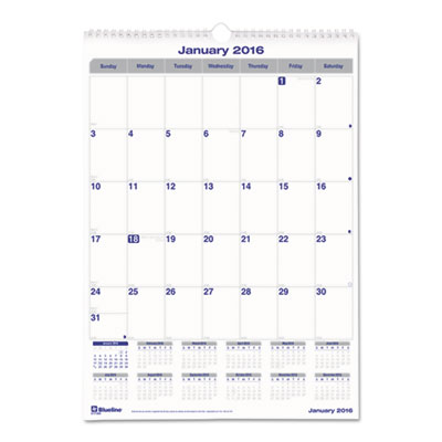 Blueline® Net Zero Carbon™ Monthly Wall Calendar