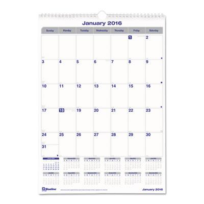 Blueline® Net Zero Carbon™ Monthly Wall Calendar