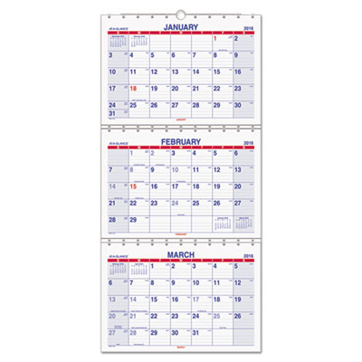 AT-A-GLANCE® Move-A-Page Three-Month Wall Calendar