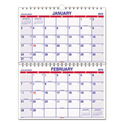 AT-A-GLANCE® Move-A-Page Two-Month Wall Calendar