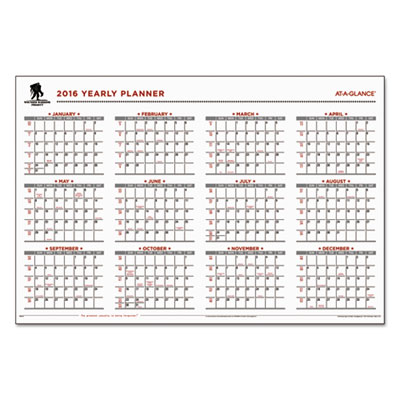 AT-A-GLANCE® Wounded Warrior Project® Erasable Wall Calendar
