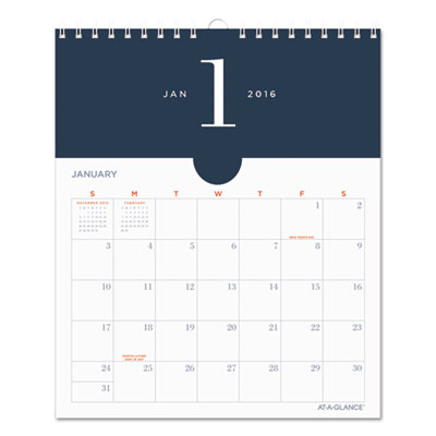 AT-A-GLANCE® Collection Metropolitan Wall Calendar with Pockets